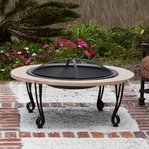 Faenza Stone Finish Fire Pit, Ravishing And Splendid Heating Decor by Well Travel Living