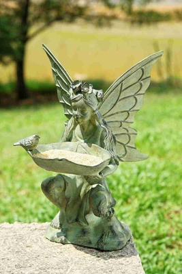 Fairy Bird Feeder Looks Like Decorative Garden Fountain Brand SPI-HOME