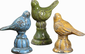 Family Circles Ceramic Sculpture In Blue Yellow And Green Brand Uttermost
