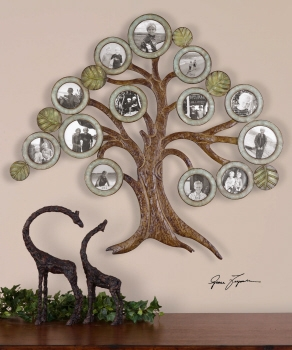 Family Tree Photo Frame - Forged Steel Frames For Displaying Family Photos Brand Uttermost