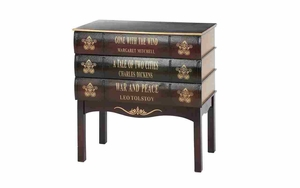 Famous Titles Faux Book Cabinet, Home Decor Accent Furniture Brand Woodland