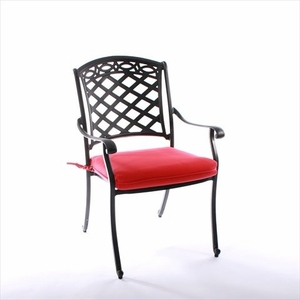 Fancy ComfortCare Dining Chair Seat Cushion by Infinita
