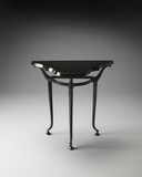 Fancy Halliwell Metal Demilune Console Table by Butler Specialty