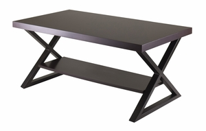 Fancy Korsa Coffee Table Dark Bronze Legs by Winsome Woods