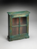 Fancy Livingston Painted Rustic Display Cabinet by Butler Specialty