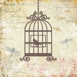 Fancy Painting Adorable Caged Whimsy II by Yosemite Home Decor