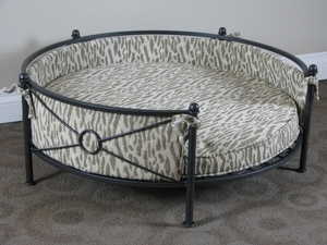 Fancy Stylized Animal Print Rounded Pet Bed by 4D Concepts