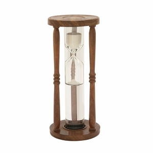 Fancy Wood Glass Floating Sand Timer