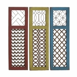 Fancy Wood Metal Wall Panel Assorted by Woodland Import