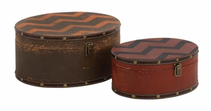 Fantastic Brown Polished Wood Vinyl Box by Woodland Import