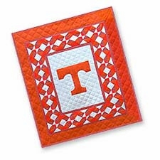 Fantastic Cotton Quilted Throw Emblazoned with the University of Tennessee Logo Brand C&F