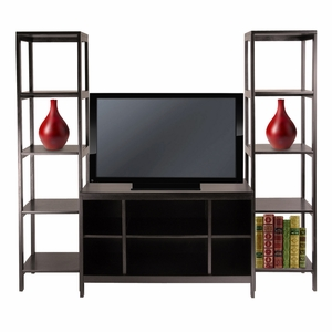 Winsome Wood Fantastic Styled Hailey 3pc TV Stand Shelf Set