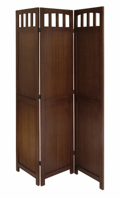Winsome Wood Fantastic Unique Styled 3-Panel Wood Folding Screen