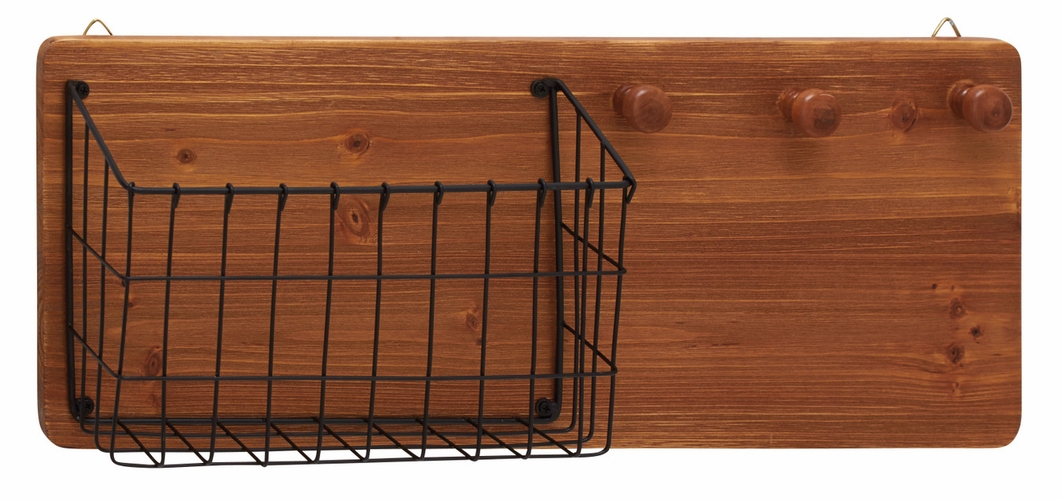 Benzara  Fantastic Wood Metal Wall Storage Rack By Woodland