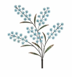 Fascinating Blue Flower Metal Acrylic Wall Decor by Woodland Import