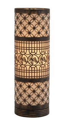 Fascinating Classy Styled Metal Cylinder Table Lamp by Woodland Import
