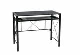 Fascinating Creston Desk with Black Frame and Blacktop by Office Star