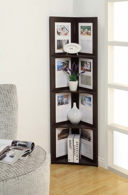 Fascinating Hanging Corner Picture shelf 4 Tier by 4D Concepts