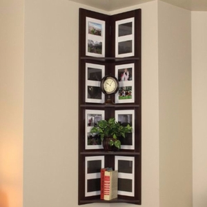 4D Concepts Fascinating Hanging Corner Picture shelf 4 Tier by 4D Concepts