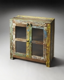 Fascinating Haveli Reclaimed Wood Display Cabinet by Butler Specialty