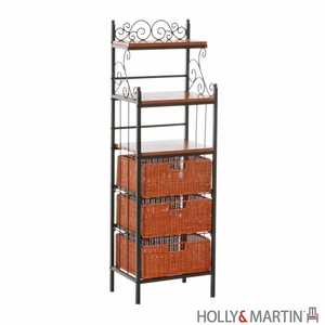 Fascinating Holly & Martin Rancho 3-Drawer Baker's Rack by Southern Enterprises