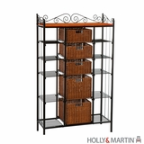 Fascinating Holly & Martin Rancho 5-Drawer Baker's Rack by Southern Enterprises