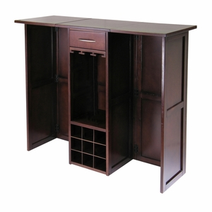 Winsome Wood Fascinating Newport Wine Bar Expandable Counter