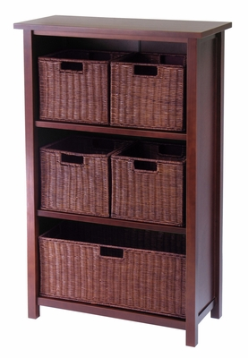 Fascinating & Perfectly Milan 6pc Designed Storage Shelf by Winsome Woods
