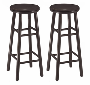 "Fascinating Set Of Two 30"" Swivel Bar Stool by Winsome Woods"