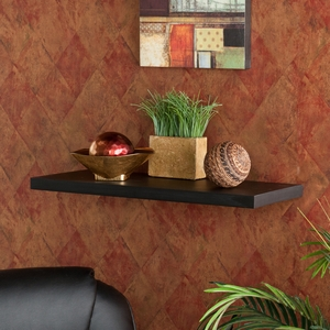 Fascinating Styled Aspen Floating Shelf Black by Southern Enterprises