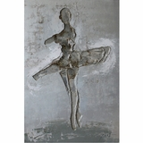 Fascinating Styled Ballerina I Lovely Painting by Yosemite Home Decor
