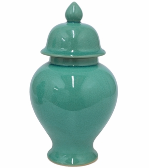 Fascinating Styled Blue Dolomite Temple Jar by Three Hands Corp