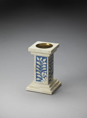 Fascinating Styled Bone Inlay Candle Holder by Butler Specialty