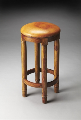 Fascinating Styled Carson Leather Bar Stool by Butler Specialty