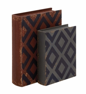 Fascinating Styled Classy Wood Leather Book Box by Woodland Import