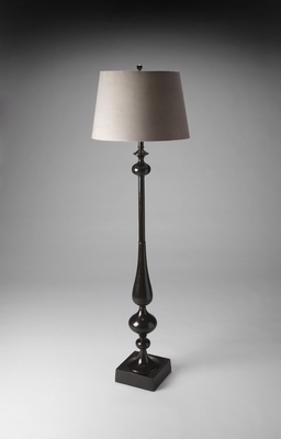 Fascinating Styled Dark Espresso Finish Floor Lamp by Butler Specialty