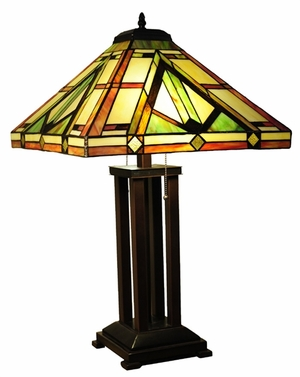 Fascinating Styled Fancy Mission Table Lamp by Chloe Lighting