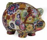 Fascinating Styled Folkart Piggy Bank by IMAX