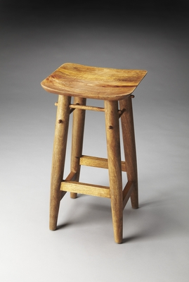 Fascinating Styled Lotus Solid Wood Bar Stool by Butler Specialty