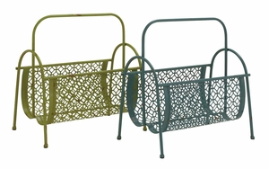 Fascinating Styled Metal Magazine Rack 2 Assorted by Woodland Import