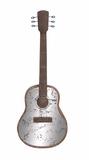 Fascinating Styled Metal Mirror Wall Guitar by Woodland Import
