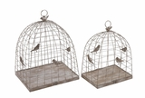 Fascinating Styled Metal Plant Cages by Woodland Import