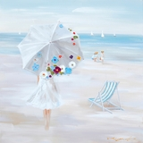 Fascinating Styled Parasol Beach Classy Painting by Yosemite Home Decor