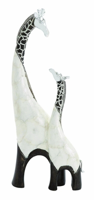 Fascinating Styled Polystone Giraffe by Woodland Import