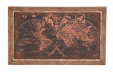 Fascinating Styled Wood Wall Art Map by Woodland Import