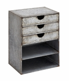 Fascinating Stylish Metal Shelf with Drawers by Woodland Import