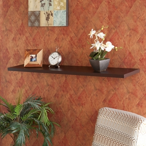 Fascinating Stylized Aspen Floating Shelf Espresso by Southern Enterprises