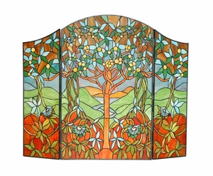 Fascinating Tiffany- Style Fireplace Screen by Chloe Lighting