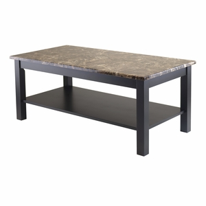 Fascinating Torri Faux Marble Top Coffee Table by Winsome Woods