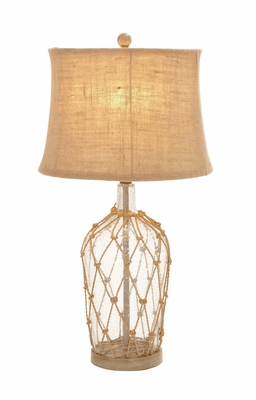 Fascinating Unique Styled Glass Metal Rotable Lamp by Woodland Import